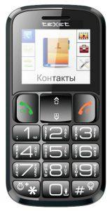 Телефон для пенсионеров teXet TM-B114