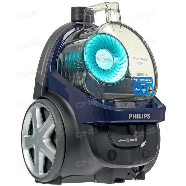 Пылесосы с контейнером и лучшим соотношением цена/качество Philips FC9573 PowerPro Active