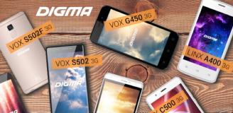 ТОП-5 лучших смартфонов Digma