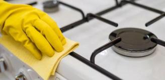 Как очистить газовую плиту в домашних услових