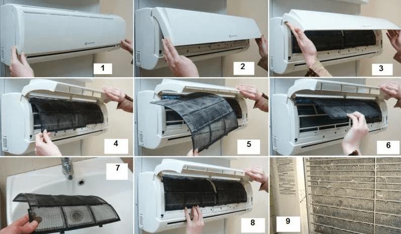 Инструкция по очистке кондиционера дома