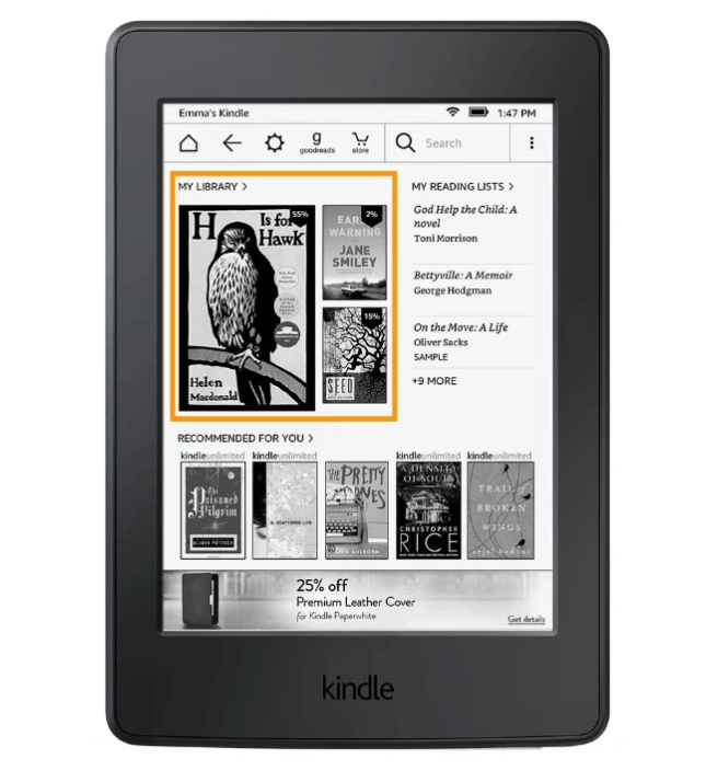Топовая книга Amazon Kindle 8