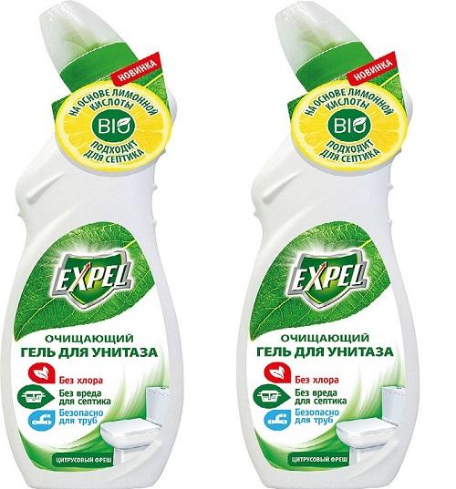 Средство для чистки унитазов от ржавчины и известкового налета Expel Цитрусовый Фреш