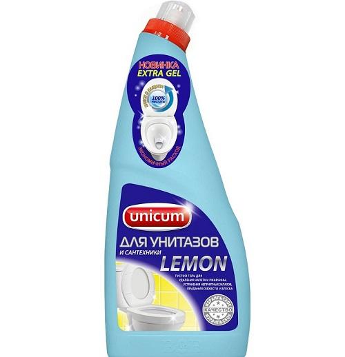 Средство для чистки унитазов от ржавчины и известкового налета UNICUM для чистки унитазов Лимон