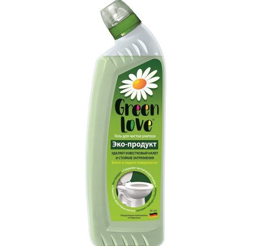 Экологичное средство для очистки унитазов Green Love Гель для чистки унитазов