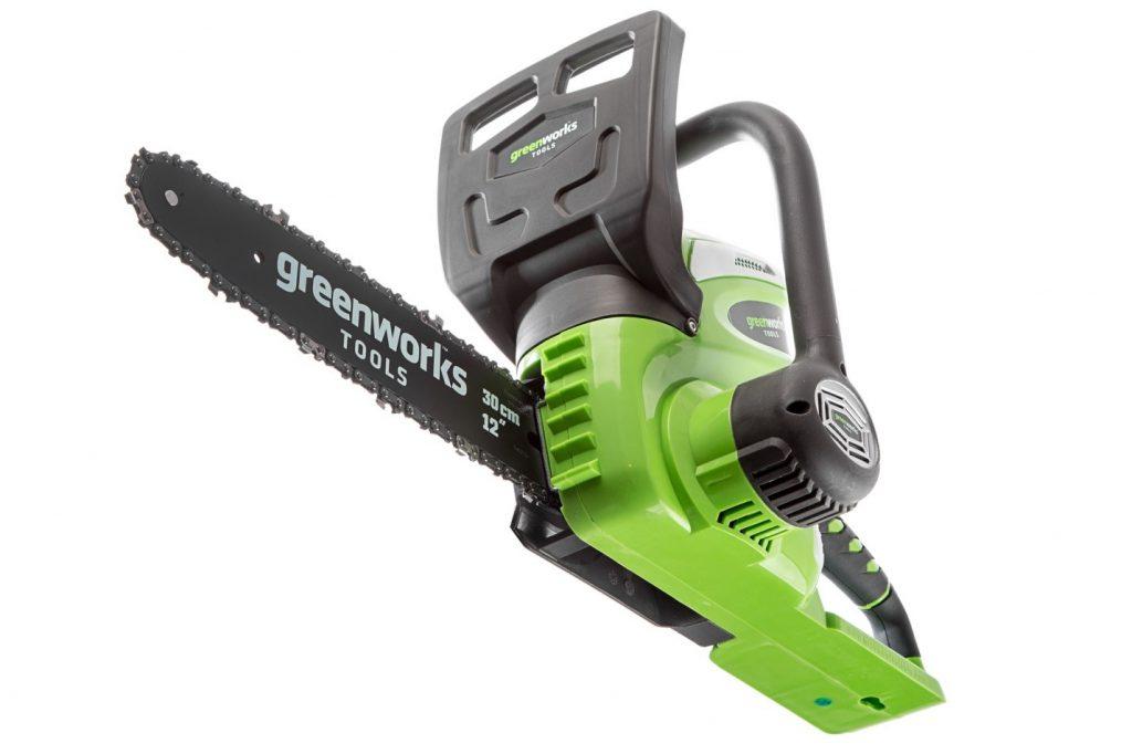 Аккумуляторная электропила Greenworks G40CS30 0