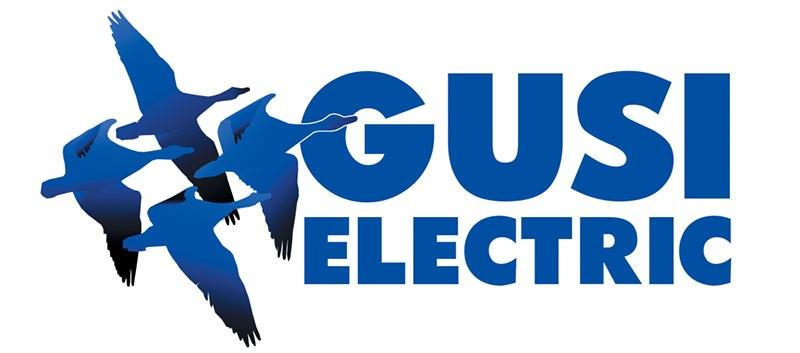 Логотип фирмы по розеткам и выключателям GUSI