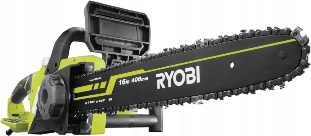 Недорогая цепная электропила с поперечным расположением двигателя Ryobi RCS2340