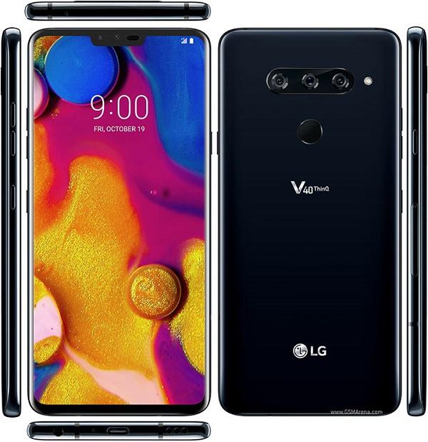 Смартфоны с хорошим звуком в проводных наушниках LG V40 ThinQ