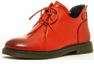 Ботинки красные
